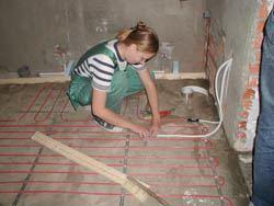 Монтаж электрического теплого пола в Анапе. электрический теплый пол